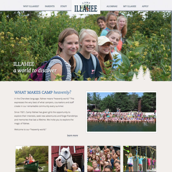 Camp for Girls in Brevard website screenshot